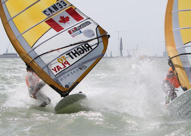 Nuking at the windsurfing world championships